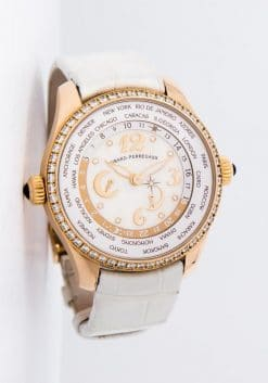 Girard Perregaux Classique Elegance World Time 18K Rose Gold & Diamonds Ladies Watch preowned.49860D52A761