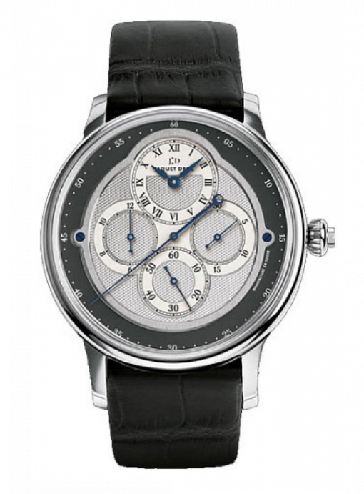 Jaquet Droz Complication La Chaux-De-Fonds Chrono Monopusher 18K White Gold Men's Watch, preowned.J007634201