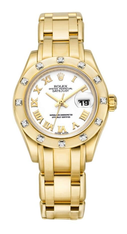 Rolex Datejust Pearlmaster 18K Yellow Gold & Diamond Ladies Watch, Preowned.69318