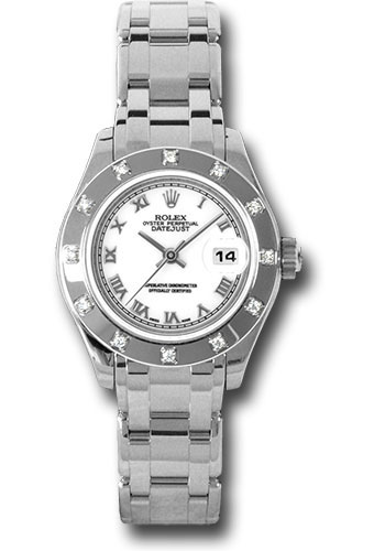 Rolex Datejust Pearlmaster 18K White Gold & Diamond Ladies Watch, Preowned.80319wr