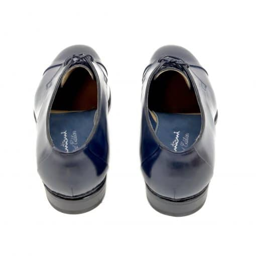 Santoni Limited Edition Blue Leather Men's Shoes, MUVI15555EB1HRNRU52 4