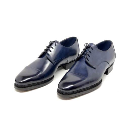 Santoni Limited Edition Blue Leather Men's Shoes, MUVI15555EB1HRNRU52 5
