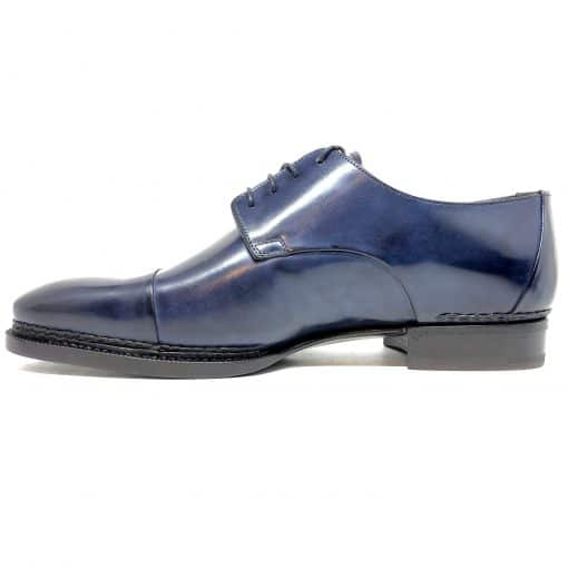 Santoni Limited Edition Blue Leather Men's Shoes, MUVI15555EB1HRNRU52 3