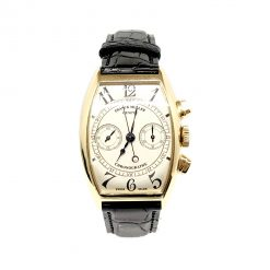 Franck Muller Casablanca Chronograph 18K Rose Gold Men`s Watch preowned.5850 CC