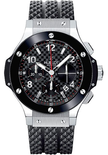 Hublot Big Bang Stainless Steel Сeramic Automatic Rubber Men's Watch, preowned.341.SB.131.RX