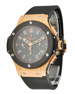 Hublot Big Bang Chronograph 18K Rose Gold & Carbon Unisex Watch preowned.301.PQ.1438.HR.LAM12