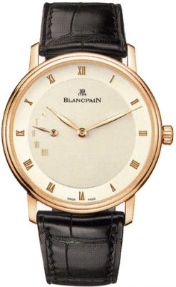 Blancpain Villeret Ultra-Slim Power Reserve 18K Rose Gold Men's Watch preowned.4040-3642-55B