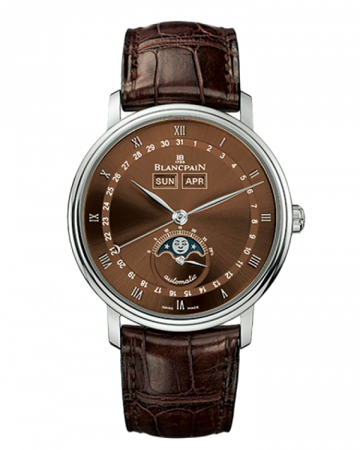Blancpain Villeret Moon Phase 18K White Gold Men's Watch, preowned.6263-1546a-55b