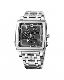 Ulysse Nardin Quadrato Dual Time 18K White Gold & Stainless Steel Men's Watch Preowned.320-90-8M/69