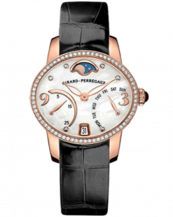 Girard Perregaux Cats Eye Bi-Retro 18K Rose Gold & Diamonds Ladies Watch preowned.80485D52A761-JK6A