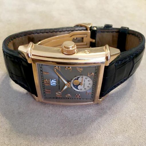 Girard Perregaux Big Date Moon Phase 18K Rose Gold Watch, preowned.2580 GP 2