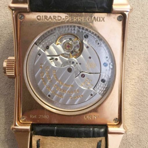 Girard Perregaux Big Date Moon Phase 18K Rose Gold Watch, preowned.2580 GP 3