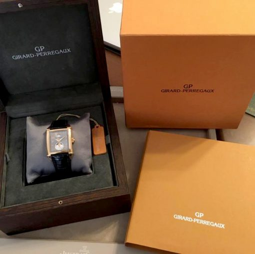 Girard Perregaux Big Date Moon Phase 18K Rose Gold Watch, preowned.2580 GP 5