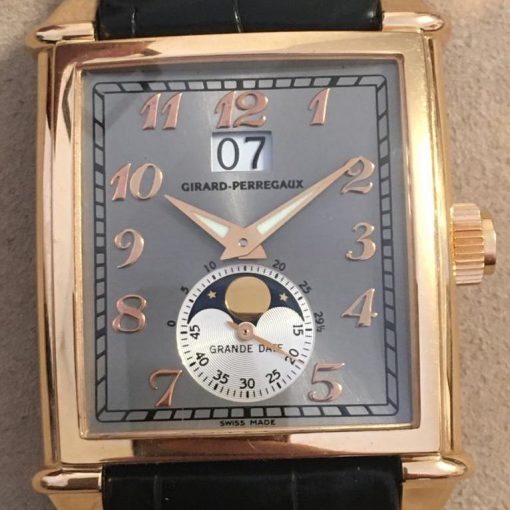 Girard Perregaux Big Date Moon Phase 18K Rose Gold Watch, preowned.2580 GP 11