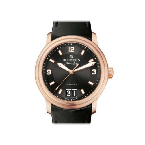 Blancpain Leman Grande Date Automatic 18K Rose Gold Men's Watch, preowned.2850B-3630A-64B