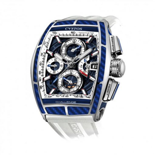 Cvstos Challenge Chrono II Loris Baz Limited Edition Men's Watch, Blue Carbon, Cvstos-Chrono-2-Challenge-Loris-Baz-Limited-Edition