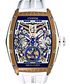 Cvstos Sealiner Double Tourbillon Differential, Blue Steel Red Gold 5N Cvstos-Sealiner-Double-Tourbillon-Diferential
