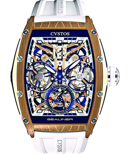 Cvstos Sealiner Double Tourbillon Differential, Blue Steel Red Gold 5N, Cvstos-Sealiner-Double-Tourbillon-Diferential