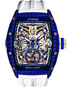 Cvstos Sealiner Double Tourbillon Differential, Blue Sapphires Blue Steel Red Gold 5N Cvstos-Sealiner-Double-Tourbillon-Diferential-Sapphires