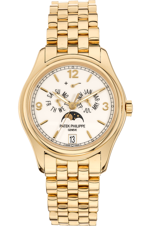 Patek Philippe Complicated Perpetual Calendar  18K Yellow Gold Unisex Watch, Preowned-5146/1J-001