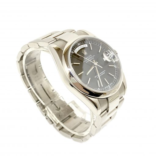 Rolex Day-Date 18K White Gold Unisex Watch, preowned.118209bl 3