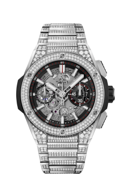 Hublot Big Bang Unico Integral Titanium Pavé Men`s Watch 451.NX.1170.NX.3704