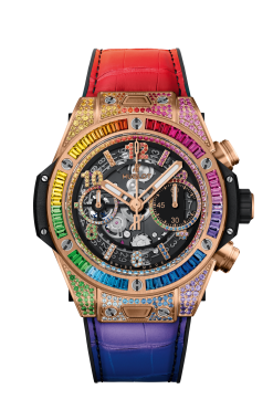 Hublot Big Bang Unico 18K King Gold Rainbow Watch 441.OX.9910.LR.0999