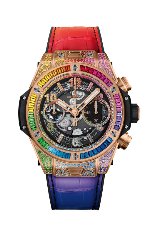 Hublot Big Bang Unico 18K King Gold Rainbow Watch, 441.OX.9910.LR.0999