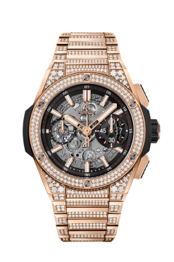 Hublot Big Bang Unico Integral 18K King Gold Pavé Men's Watch 451.OX.1180.OX.3704