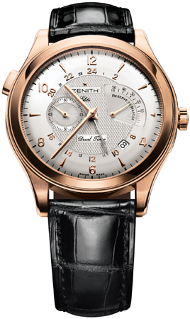 Zenith Grande Class Reserve de Marche Dual Time 18K Rose Gold Men's Watch, Preowned-18.0520.683/01.C492
