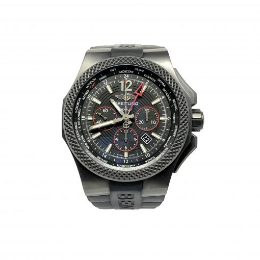 Breitling Bentley GMT Light Body Chronograph Automatic Black Dial Men's Watch, pre-owned.VB043222-BD69