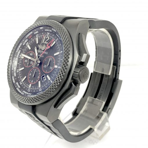 Breitling Bentley GMT Light Body Chronograph Automatic Black Dial Men's Watch, pre-owned.VB043222-BD69 2