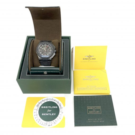 Breitling Bentley GMT Light Body Chronograph Automatic Black Dial Men's Watch, pre-owned.VB043222-BD69 5