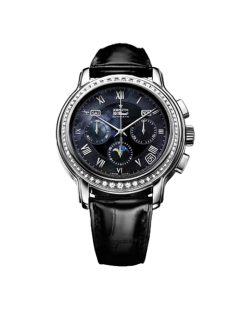 Zenith El Primero Chronograph Moonphase Stainless Steel & Diamonds Ladies Watch Preowned.16.1230.410/81.C672