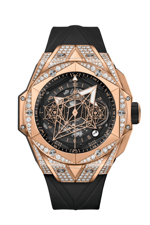 Hublot Big Bang Sang Bleu II King Gold Pavé Limited Edition Men's Watch, 418.OX.1108.RX.1604.MXM20