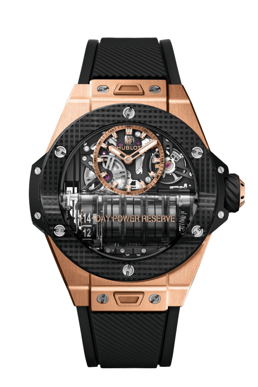 Hublot Big Bang MP-11 Power Reserve 14 Days King Gold 3D Carbon Limited Edition Men's Watch, 911.OQ.0118.RX
