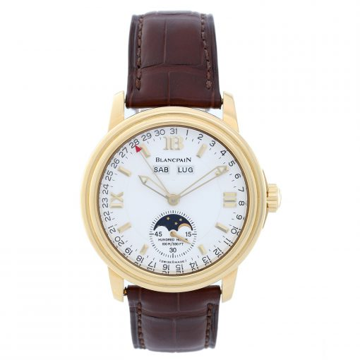 Blancpain Leman Moonphase & Complete Calendar Yellow Gold Watch, Pre.owned_2763-1418A-53B