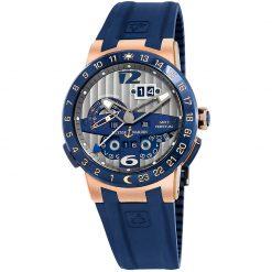 Ulysse Nardin El Toro Perpetual Calendar 18K Rose Gold & Ceramic Men's Watch preowned.326-00