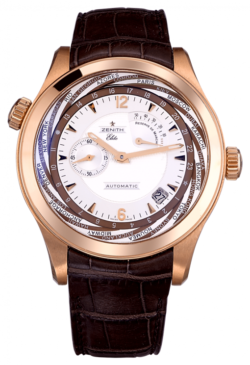 Zenith Class Traveller Multicity 18K Rose Gold Men's Watch, Preowned.18.0520.687/01.C679