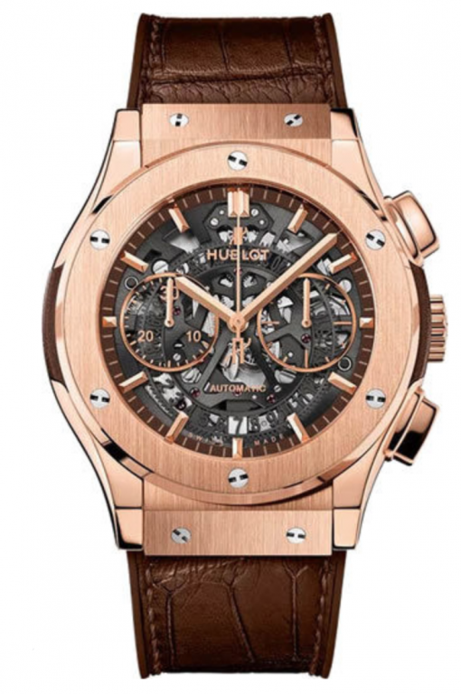 Hublot Classic Fusion Chronograph Aero King Gold Men's Watch, Preowned.525.OX.3280.LR