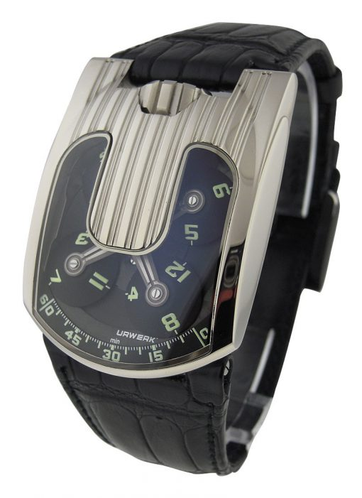 Urwerk UR-103 18K White Gold Limited Edition Men's Watch, preowned.UR-103