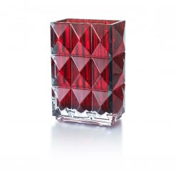 Baccarat Luxor Rectangular Red Vase, 2808408 2808408
