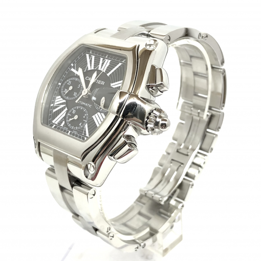 Cartier Roadster Chrono Watch, preowned.W62020X6 2