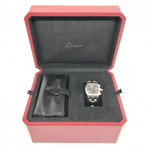Cartier Roadster Chrono Watch, preowned.W62020X6 4