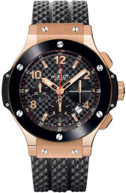 Hublot Big Bang Rose Gold Ceramic Rubber Chronograph Automatic Men's Watch, preowned.341.PB.131.RX preowned.341.PB.131.RX