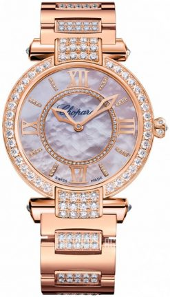 Chopard Imperiale 18K Rose Gold & Diamonds Ladies Watch preowned.384242-5008