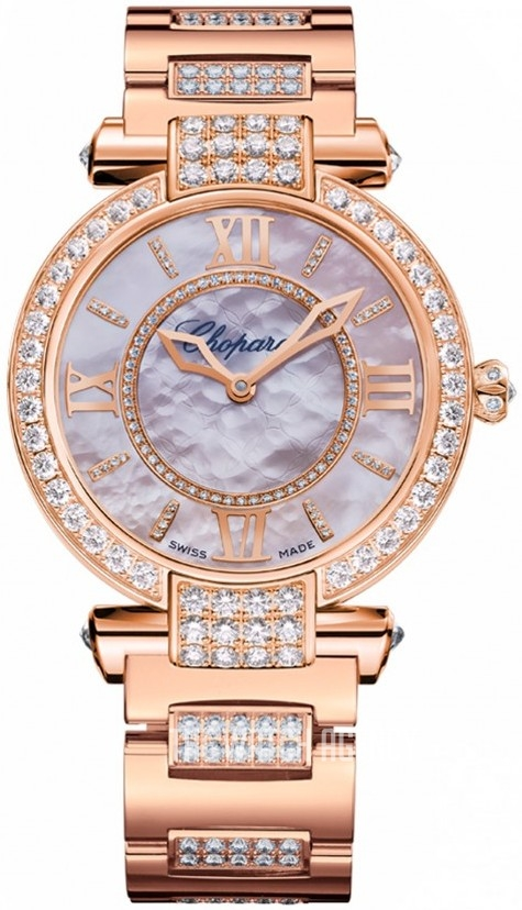 Chopard Imperiale 18K Rose Gold & Diamonds Ladies Watch, preowned.384242-5008