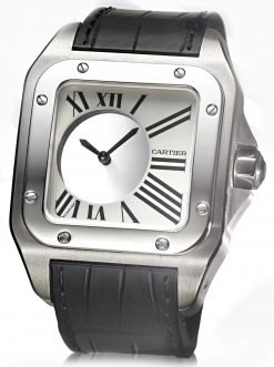 Cartier Santos Mystery XL Palladium and 18K White Gold Men's Watch preowned.Santos-Mystery-XL
