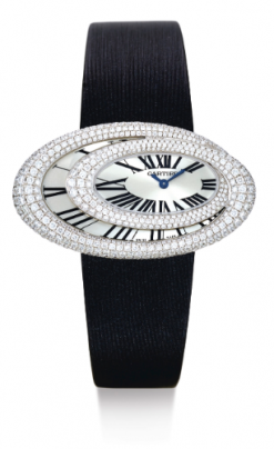 Cartier Baignoire Hypnose 18K White Gold & Diamonds Ladies Watch preowned.Baignoire-Hypnose