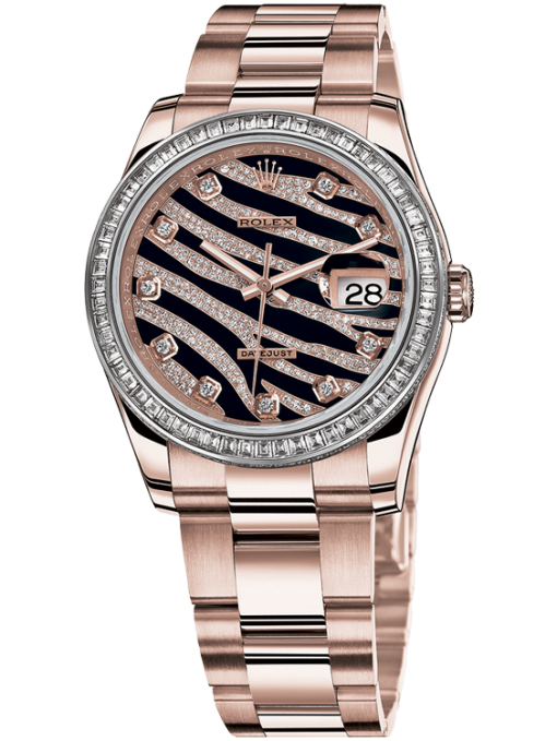 Rolex Datejust Royal Pink Gold & Diamond Ladies Watch, Preowned.116285bbr